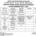 Jadwal UAS 20151